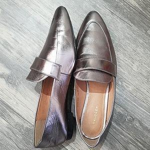 🦊BOGO Halogen loafers leather metalic shoe